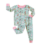 Little Sleepies Two-Piece Bamboo Viscose Pajama Set - Aqua Puppy Love