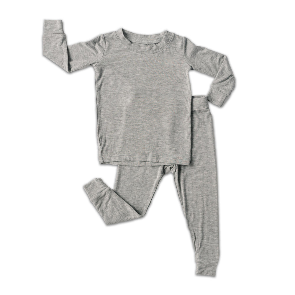 Little Sleepies Two-Piece Bamboo Viscose Pajama Set - Heather Gray
