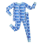 Little Sleepies Two-Piece Bamboo Viscose Pajama Set - Horizon Triangles