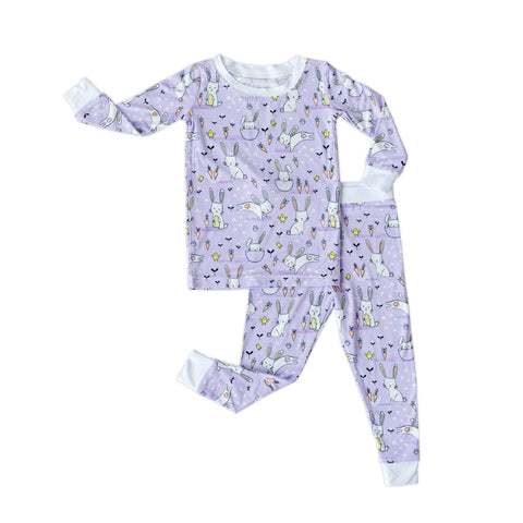 Little Sleepies Two-Piece Bamboo Viscose Pajama Set - Lavender Bunnies (Arriving 2/25)