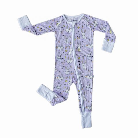 Little Sleepies Bamboo Viscose Zippy - Lavender Bunnies