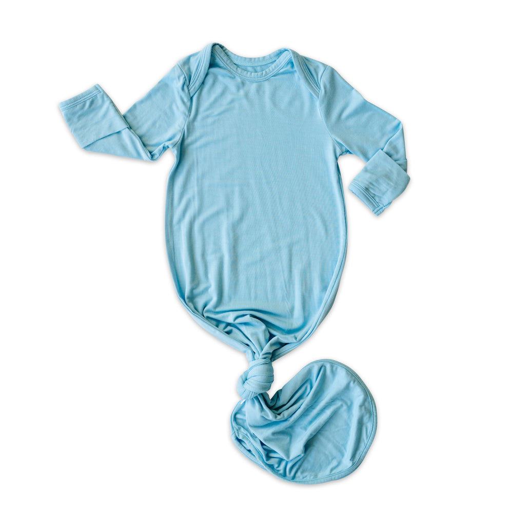 Little Sleepies Bamboo Viscose Infant Knotted Gown - Sky Blue