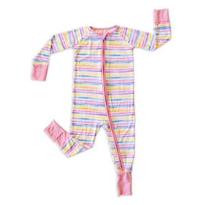 Little Sleepies Bamboo Viscose Zippy - Sunrise Stripes