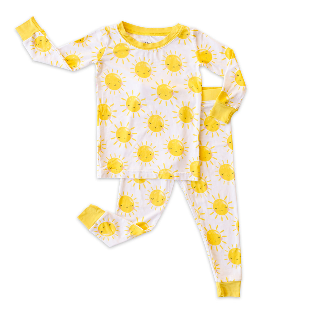 Load image into Gallery viewer, Little Sleepies Two-Piece Bamboo Viscose Pajama Set - Sunshine