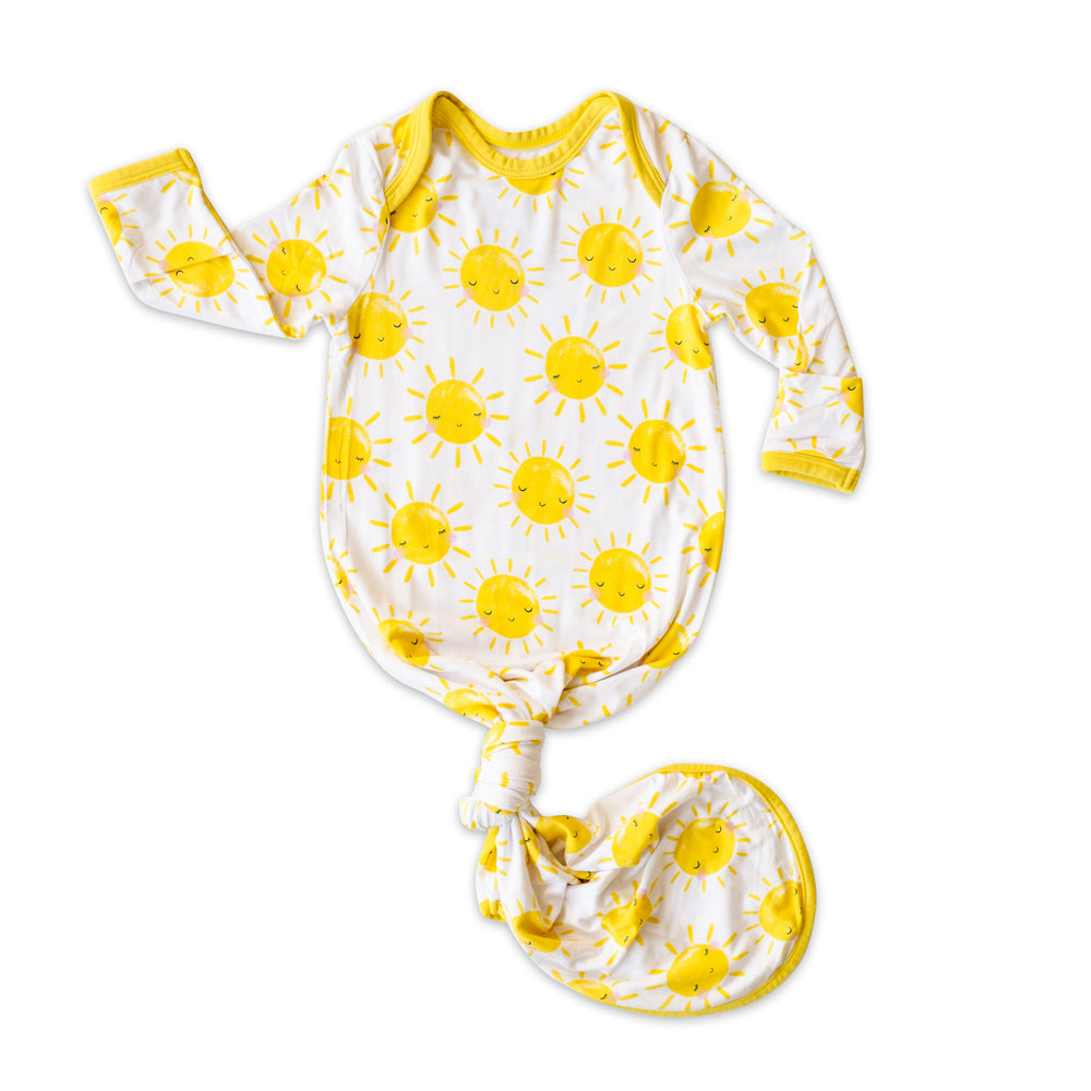 Little Sleepies Bamboo Infant Knotted Gown - Sunshine