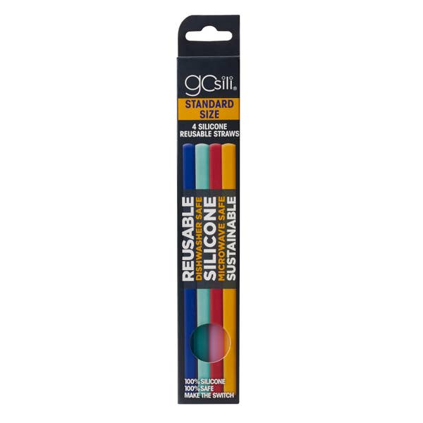 GoSili Reusable Straw - 4 Pack