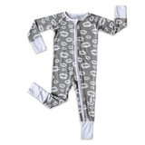 Little Sleepies Bamboo Viscose Zippy - Gray Kisses