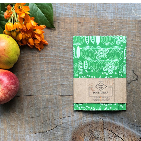 OLSEN+OLSEN Organic Beeswax Wraps pack of 3 - Greens