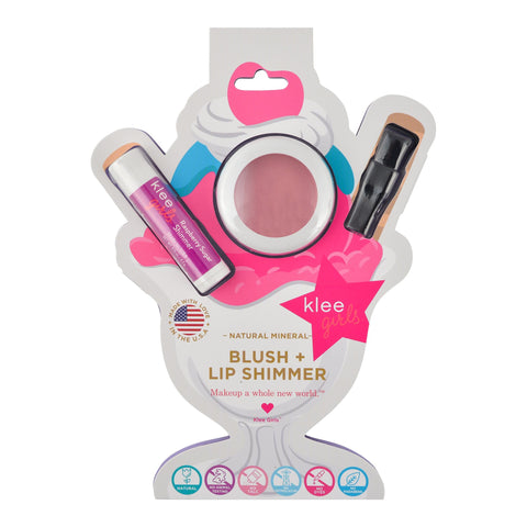 Klee Naturals Natural Mineral Blush & Lip Shimmer Duo - Sweet Cherry Pop