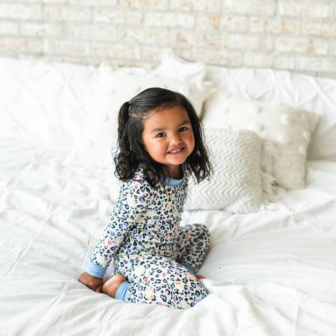 Little Sleepies Two Piece Pajama Set - Leopard Love