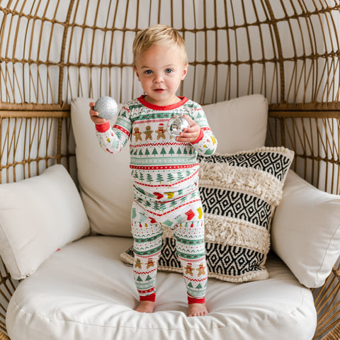 Little Sleepies Two-Piece Bamboo Viscose Pajama Set - Fair Isle - Ships by 9/30