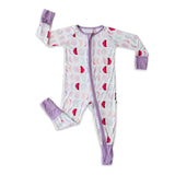 Little Sleepies Bamboo Viscose Zippy - Luna Mauve