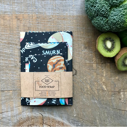 OLSEN+OLSEN Organic Beeswax Wraps pack of 3 - Milky Way