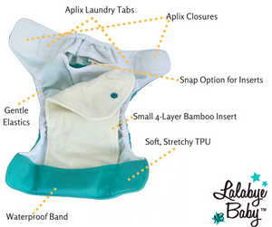 Load image into Gallery viewer, Lalabye Baby Newborn Diaper