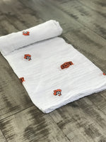 Three Little Anchors - Oklahoma State Cowboys Swaddle