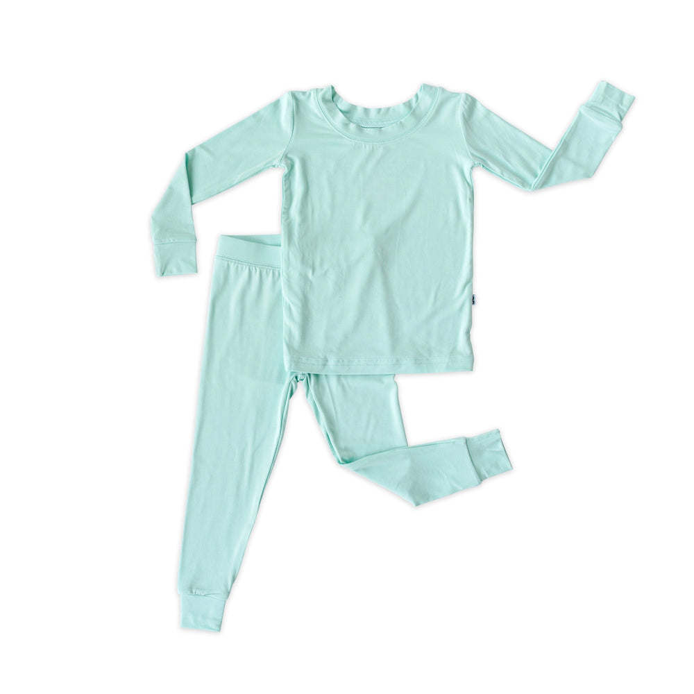 Little Sleepies Two-Piece Bamboo Viscose Pajama Set - Aquamarine