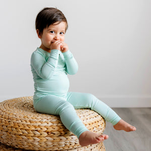 Load image into Gallery viewer, Little Sleepies Two-Piece Bamboo Viscose Pajama Set - Aquamarine