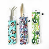 Marley's Monsters Straw Pouch & Stainless Straw Set