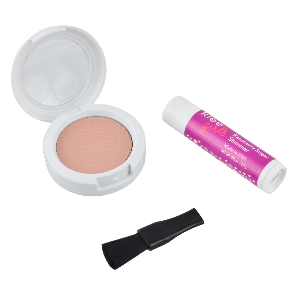 Load image into Gallery viewer, Klee Naturals Natural Mineral Blush & Lip Shimmer Duo - Pink Sugar Fluff