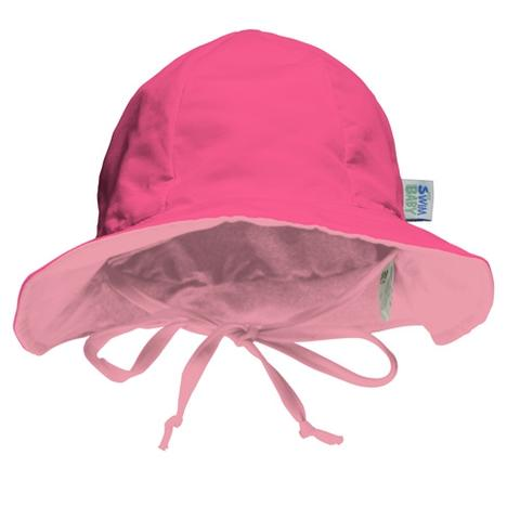 My Swim Baby Hot Pink/Light Pink Sun Hat - FINAL SALE
