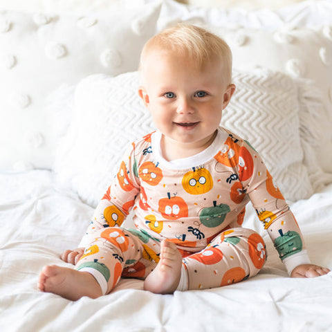 Little Sleepies Two Piece Pajama Set - Pumpkins