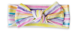 Load image into Gallery viewer, Little Sleepies Bow Headband - Sunrise Stripes