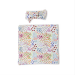Little Sleepies Bamboo Swaddle + Headband Set - Flower Fields (IN TRANSIT)