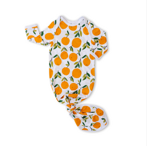 Little Sleepies Bamboo Infant Knotted Gown - Clementines