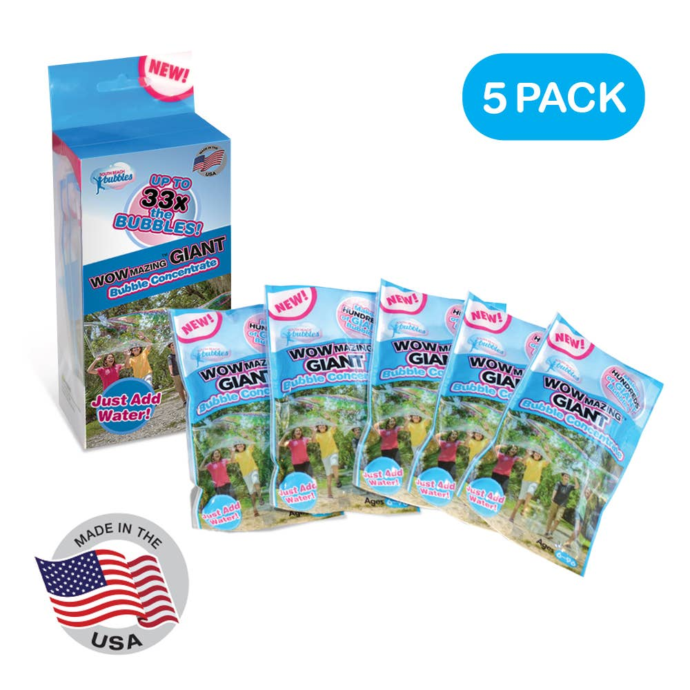 South Beach Bubbles WOWmazing Giant Bubble Refill Kit - 5pk