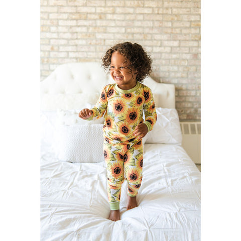 Little Sleepies Two Piece Pajama Set - Sunflowers