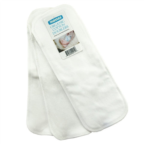 Thirsties Organic Cotton Doublers - 3pk
