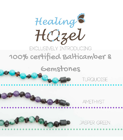 Healing Hazel Baltic Amber Teething Necklaces w/ Gemstones