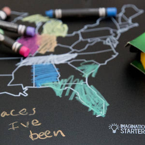 Imagination Starters - Reversible Map Placemat Chalkboard