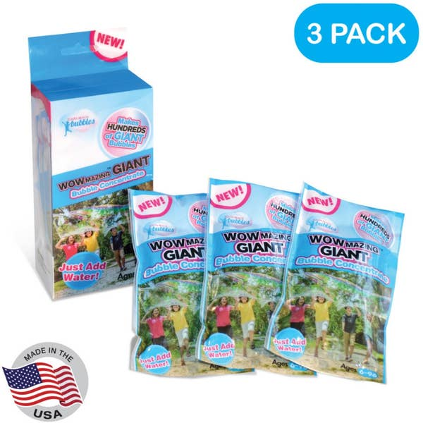 South Beach Bubbles WOWmazing Giant Bubble Refill Kit - 3pk