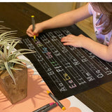 Imagination Starters - Reversible Letters Practice Placemat Chalkboard