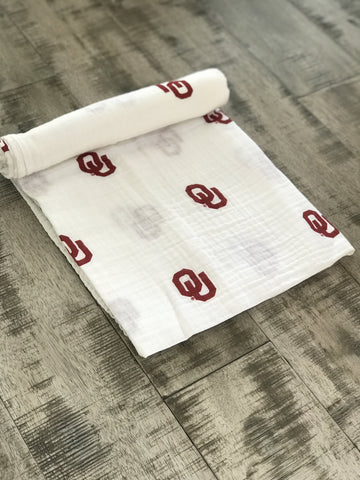 Three Little Anchors - The University of Oklahoma Swaddle