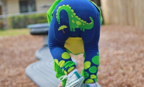 Doodle Pants Dino Cotton Leggings