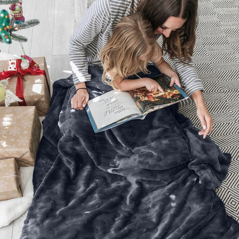 Saranoni Charcoal Throw Blanket