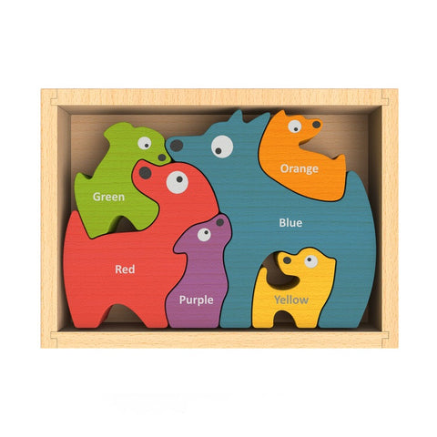 Begin Again Toys Bilingual Dog Family Puzzle