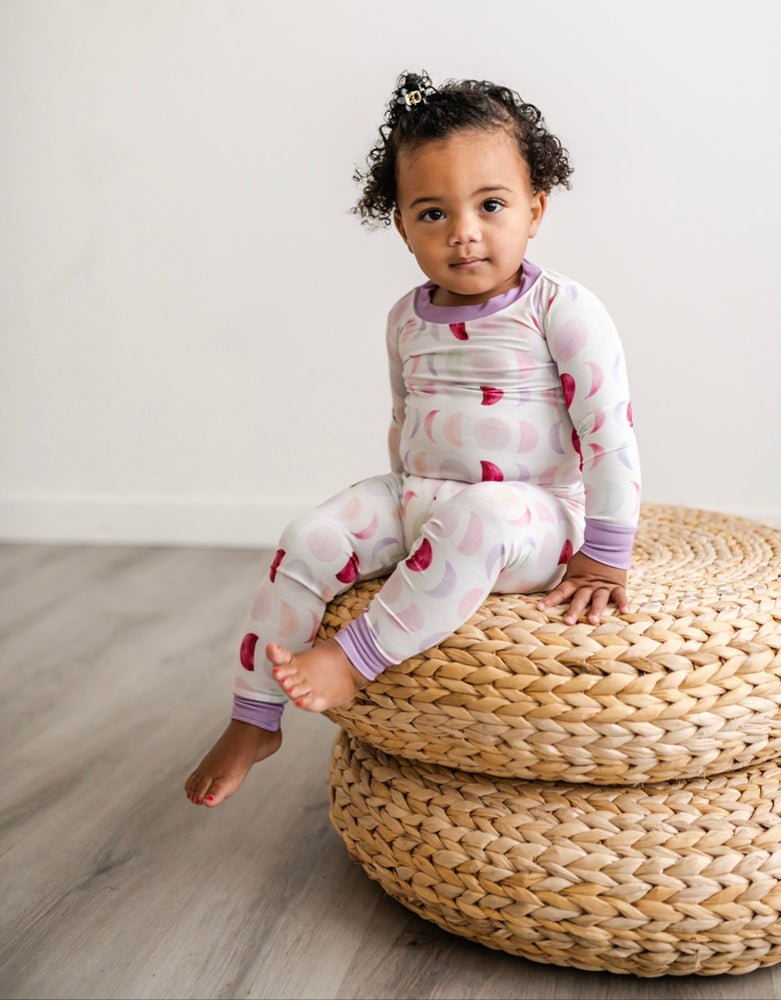 Little Sleepies Two-Piece Bamboo Viscose Pajama Set - Luna Mauve