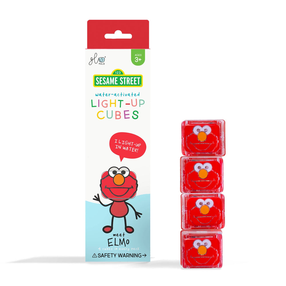 Glo Pals Limited Edition Sesame Street Light Up Cubes - Elmo
