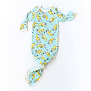 Little Sleepies Bamboo Infant Knotted Gown - Bananas