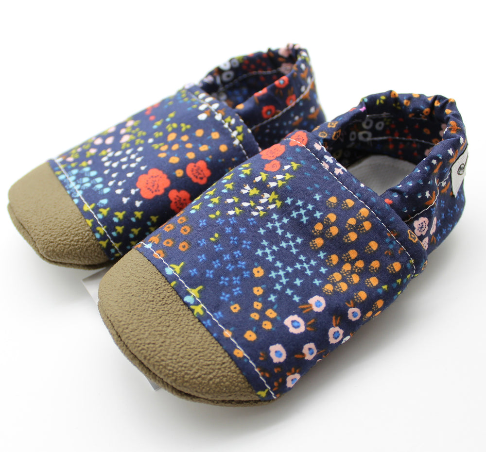 Everyday Moccasins - Navy Meadows, Size 18-24