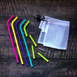Big Bee, Little Bee Build-A-Straw Reusable Silicone Straws Starter Kit