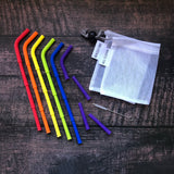 Big Bee, Little Bee Rainbow Build-A-Straw Reusable Silicone Straws Starter Kit