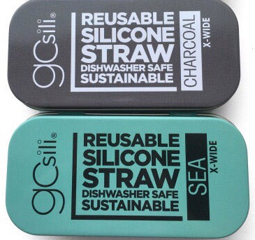 GoSili Portable & Reusable Silicone Straw with Travel Case - Extra Wide