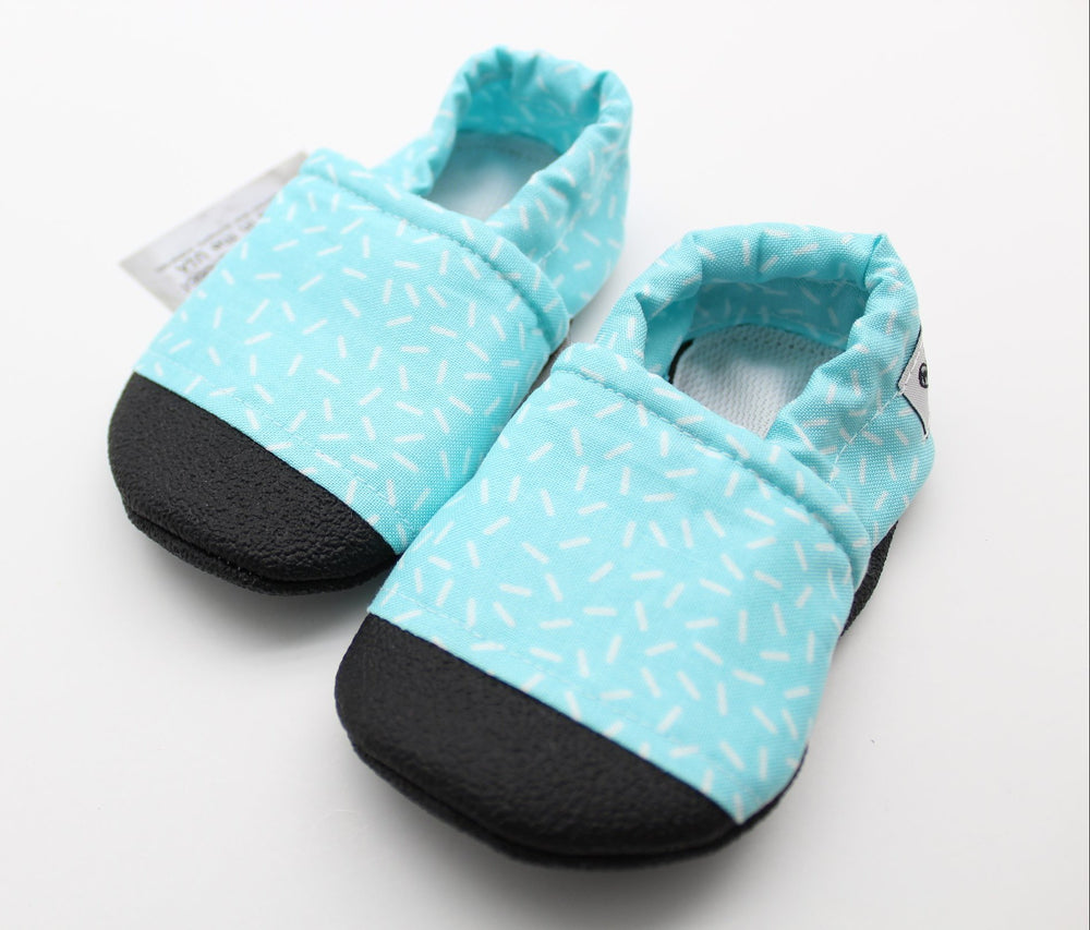 Everyday Moccasins - Blue Sprinkles, Size 6-12