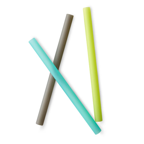 GoSili Extra Wide Reusable Straw Set