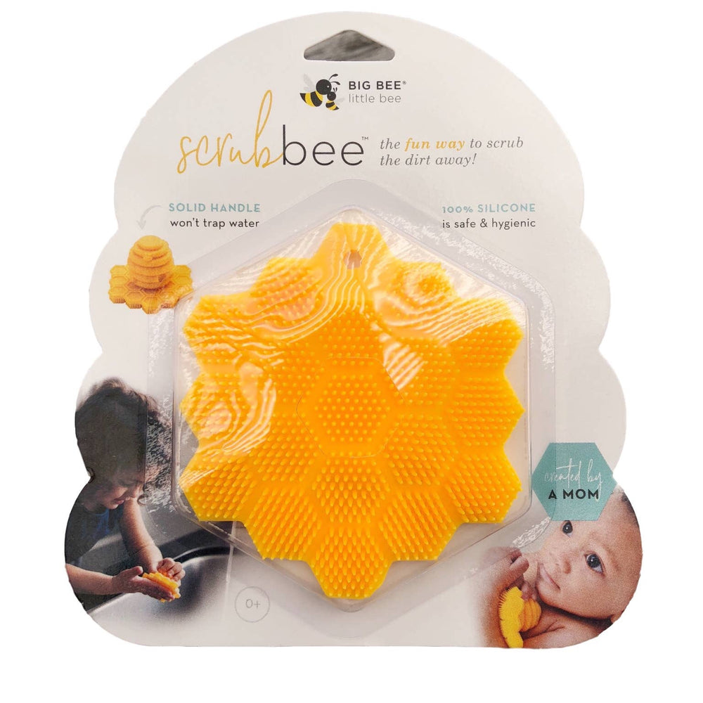 Big Bee, Little Bee ScrubBEE Silicone Body Scrubber for Infants-Preschoolers