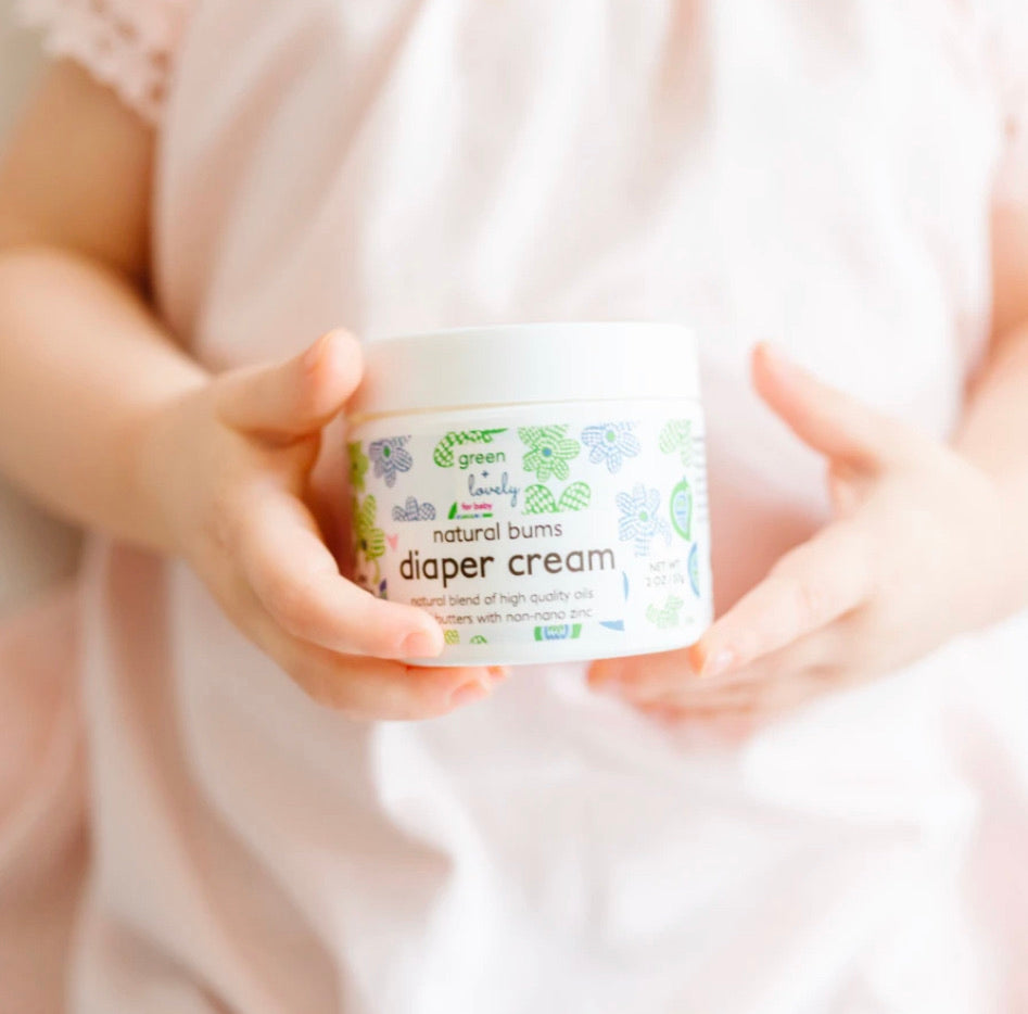 Green + Lovely Natural Bums Diaper Rash Cream